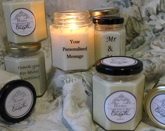 Scented Personalised Eco Soy Candles -  Wild Woods