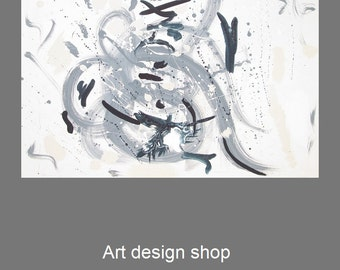 Abstract modern art, abstract art large, modern art canvas, large modern art, original painting, original modern art, large canvas art, blue