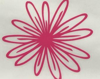 Cute Flower Vinyl Decal Sticker/Flower/Vinyl/Decal/Sticker/Yeti Decal/Yeti Sticker