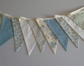 Shabby Chic Blue Bunting