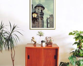 Edinburgh Print, Lamp Post, Architecture Art, Scotland Print, Large Wall Art, Urban Home Decor, Wall Art, City Photography