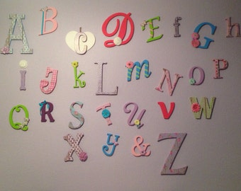 DISCOUNTED Random alphabet set Unfinished wooden letters wall decor - A through Z, Full Alphabet Set, Wooden Letters for Playroom, Learning