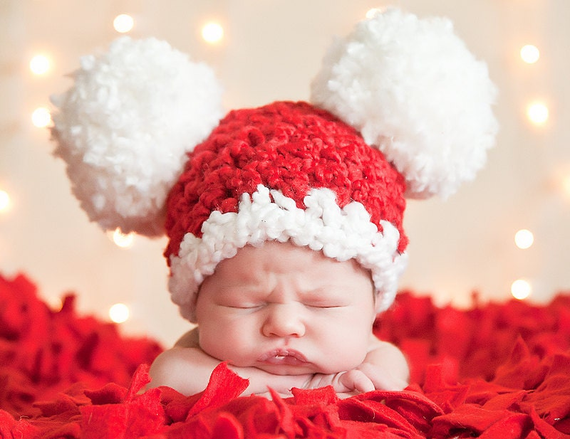 9 Sizes Christmas Hat Santa Hat Baby Hat Baby Girl Hat Baby