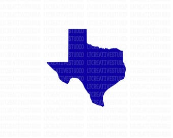 Texas SVG, Texas State SVG, Texas Silhouette SVG, Silhouette Files, Cricut Files