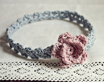 Crochet PATTERN - Old Rose Headband (sizes - baby to adult)