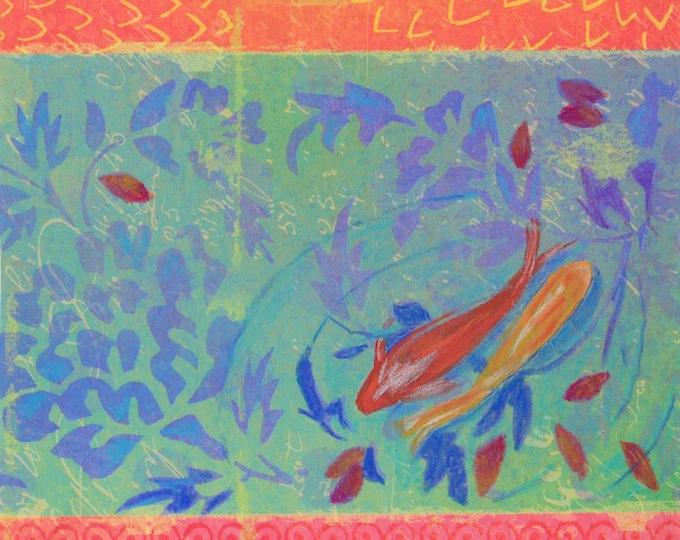 Confetti Pond Koi notecard