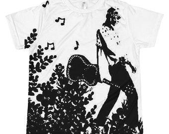 Guitar Girl Kids & Teens T-shirt