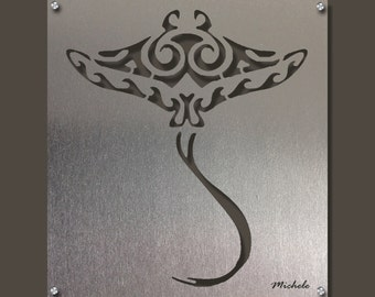 Manta Ray, Stingray, Ocean Art, Beach Decor, Beach Art, Sea Art, Manta Ray Sculpture, Stingray Metal Wall Art,  Metal Wall Art