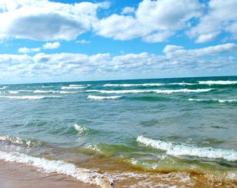 Nature Photography: Lake Michigan Beach PRINT