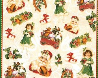 2 Christmas paper napkins (254)