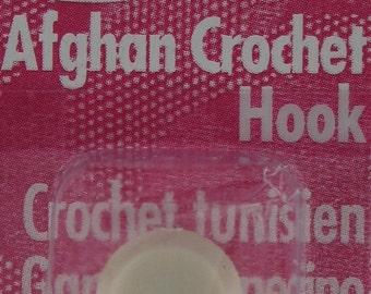 """Afghan Hook SET, Aluminum Crochet Hook Set Silvalume Hooks 14"""" (35cm) G-K (4mm-6.5mm) Five Aluminum Silvalume Hooks Included Susan Bates NEW"""