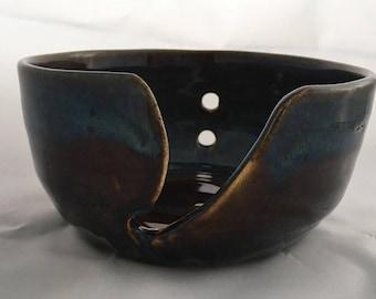 Large pottery  yarn bowl. Wool bowl. Ceramic yarn bowl. Knitting bowl. Crochet bowl. Yarn bowl. Gift for knitters. Crochet. Craft. Pottery.