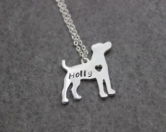dog chain jack russell terrier with name