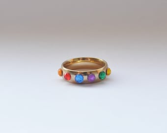 Marvel - Infinity Gauntlet Inspired Ring - Avengers Infinity War Marvel Fan Thanos GOLD