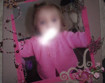 scrapbooking, Scrapbook page, scrapbooking photo frame, personalized photo canvas