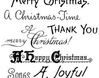 """Christmas Greetings - Christmas Time // Clear stamps pack (4""""x7"""") FLONZ"""