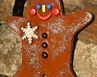 Cheeky Handmade Ceramic Christmas Gingerbread Man