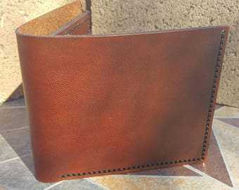 Leather Wallet - Hand Stitched - Classic