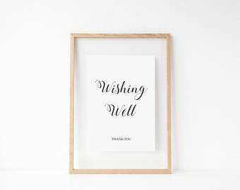 Printable Wishing Well Sign - INSTANT DOWNLOAD - Wedding Signage - Wedding Stationary -