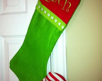 Elf Christmas Grinch Stockings Free Personalization RESTOCKED