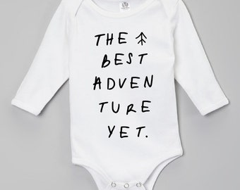 New Baby Gift, Baby Take Home Outfit, Adventure Onesie, Newborn Clothes, Hipster Baby Clothes, Baby Shower Gifts, Coming Home Outfit