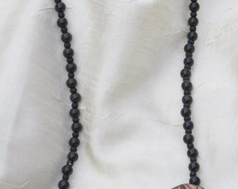 Black and Copper Beaded Necklace