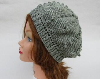 Women's Crochet Tam Hat, Crochet Hat, Women's Hat, Crochet Beret, Green Hat, Women's Crochet Hat, Beanie Hat, Hats For Women, Ladies Hats