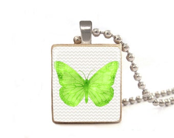 Green Butterfly Necklace | Butterfly Charm | Butterfly Pendant | Butterfly Jewelry | Graduation Gift | Best Friend Necklace | Mother's Day