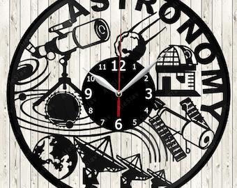 Astronomy Vinyl Record Wall Clock Handmade Art Decor Your Room Original Gift 1408