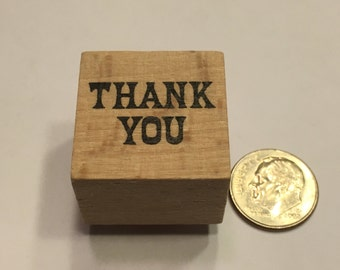 small thank you rubber stamp, 22 mm (BB4/2)