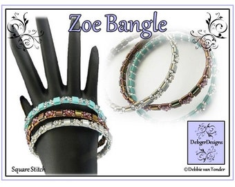 Tila Beading Pattern, Tutorial, Bangle - ZOE