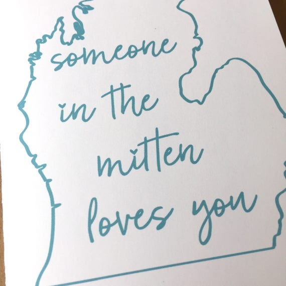 Mitten greeting card michigan made made in michigan mitten greeting card michigan made made in michigan michigan greeting card michigan love mitten state michigan gift m4hsunfo Images