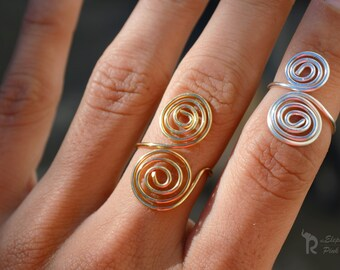 Circle Ring Geometric Ring Above Knuckle Ring Wire Jewelry Bohemian Hippie Ring