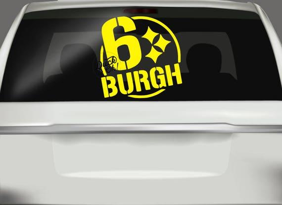 6 burgh car decal steelers car decal pittsburgh steelers sticker