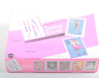 Unopened box of Barbie Trading Cards, MIB, Mattel ~ The Pink Room ~ 161002A