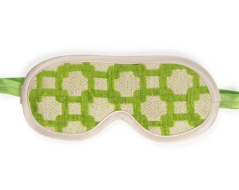 Chenille Sleeping Mask- Private Patio Green