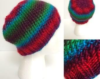 Ruby, Emerald, Sapphire, and Amethyst Jewel Knit Beanie - READY TO SHIP