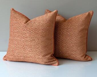 Burnt orange pillow Etsy