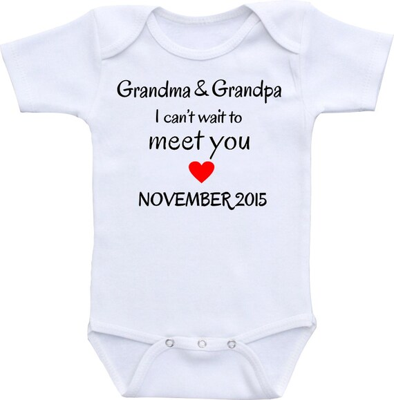Pregnancy Announcement I Love Grandma Grandpa Onesies 174 Brand
