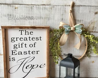 Ha has risen easter easter decor jesus farmhouse decor easter decor easter sign wood sign hope gift gifts farmhouse negle Image collections