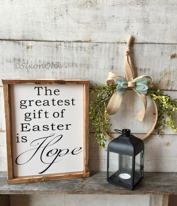 Easter decor easter sign wood sign hope gift gifts like this item negle Image collections
