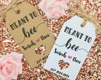 Meant To Bee, Honey Favour Tags, Wedding Gift Tags