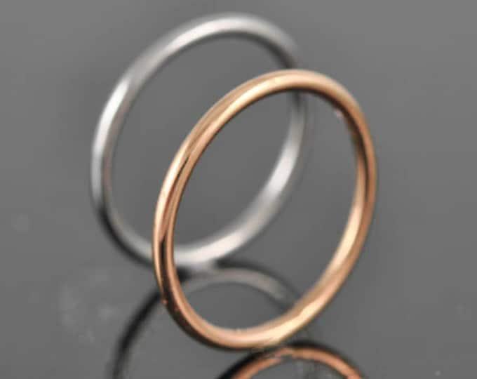 Rose gold ring, stacking ring, wedding band, wedding ring, engagement ring, mens ring, mens wedding band, man wedding ring, Size up to 9