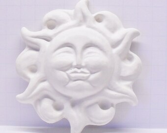 Ready To Paint/DIY/Plaster/ChalkWare/PlasterCraft Flat Back Wall Décor/Wall Hanging/Wall Plaque Flaming Sun #180