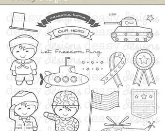 """Digital Stamp Art """" Our Heroes"""""""