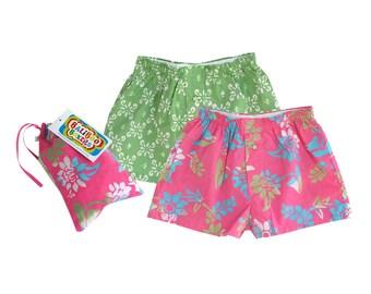 Girls Short Set, Floral Pajama Shorts, Boho Baby Girl Diaper Cover, Floral Diaper Cover Set, Girls Pajama