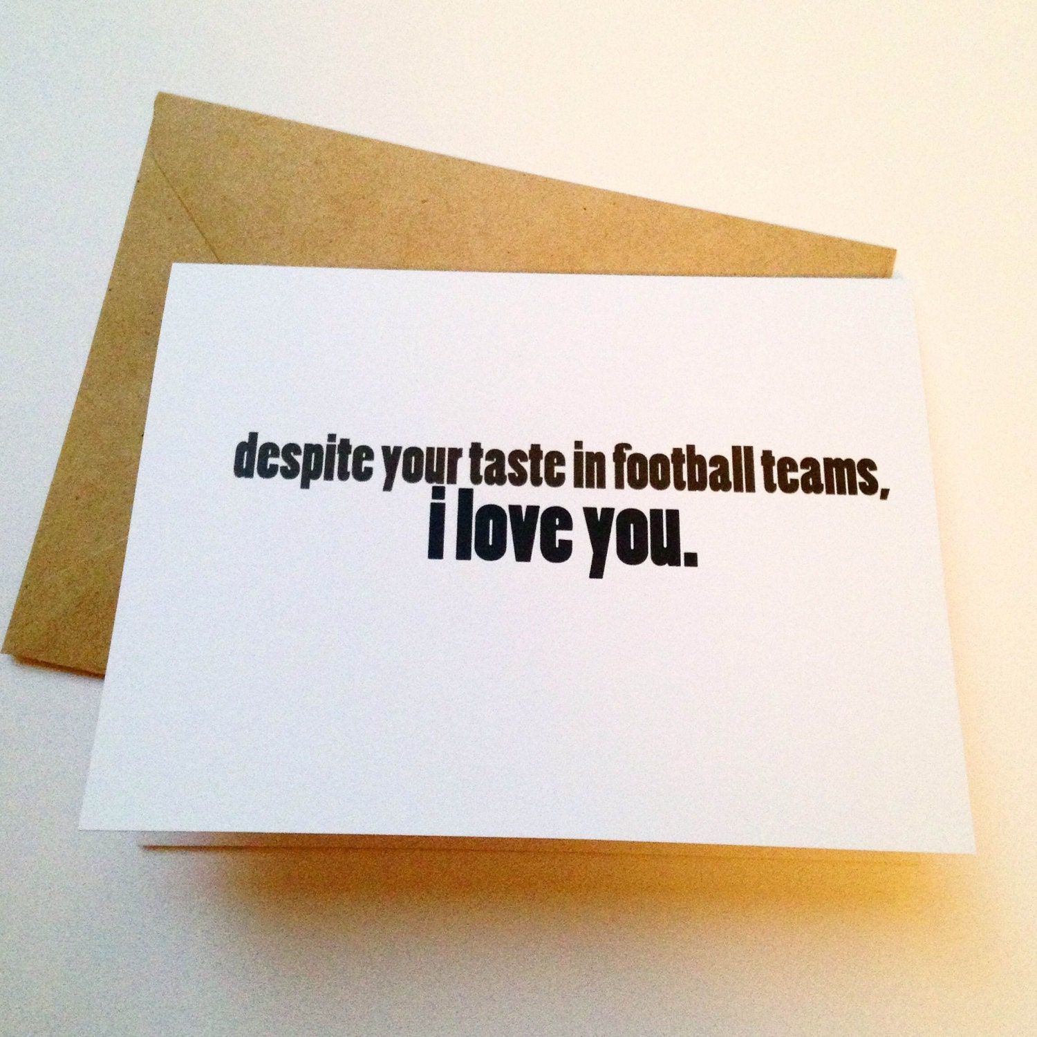 Football Card Funny Love Card Boyfriend Card Husband