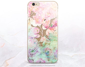 iPhone 8 Case iPhone X Case iPhone 7 Case Floral Clear GRIP Rubber Case iPhone 7 Plus Clear Case iPhone SE Case Samsung S8 Plus Case U184