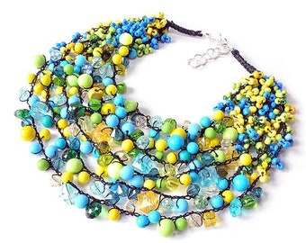 kama4you 2618 multicolor necklace crocheted