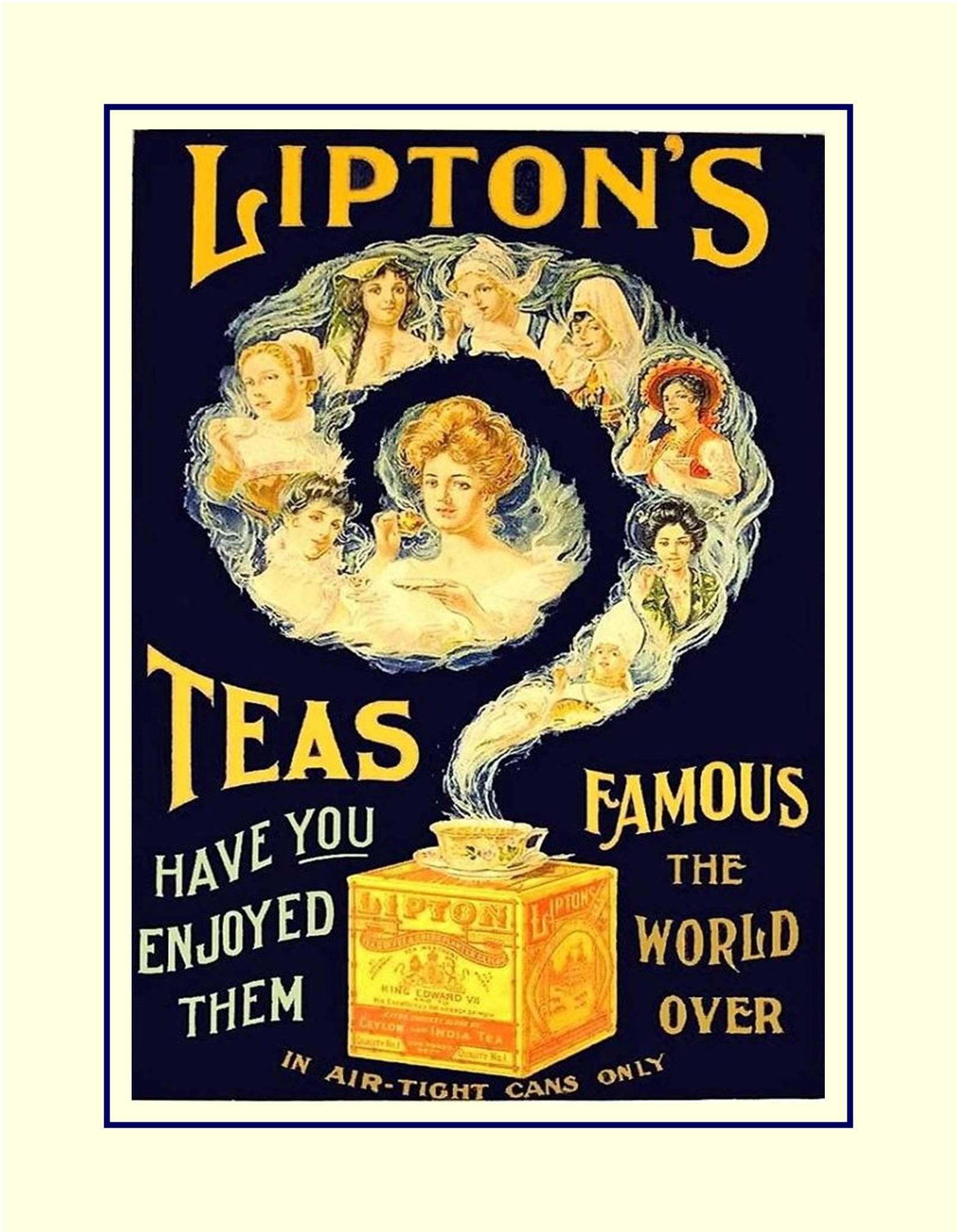 Lipton Tea Illustration Poster Kitchen Wall Decor Gift